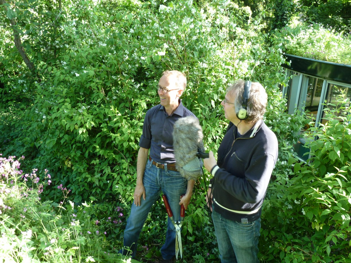 interview in tuin