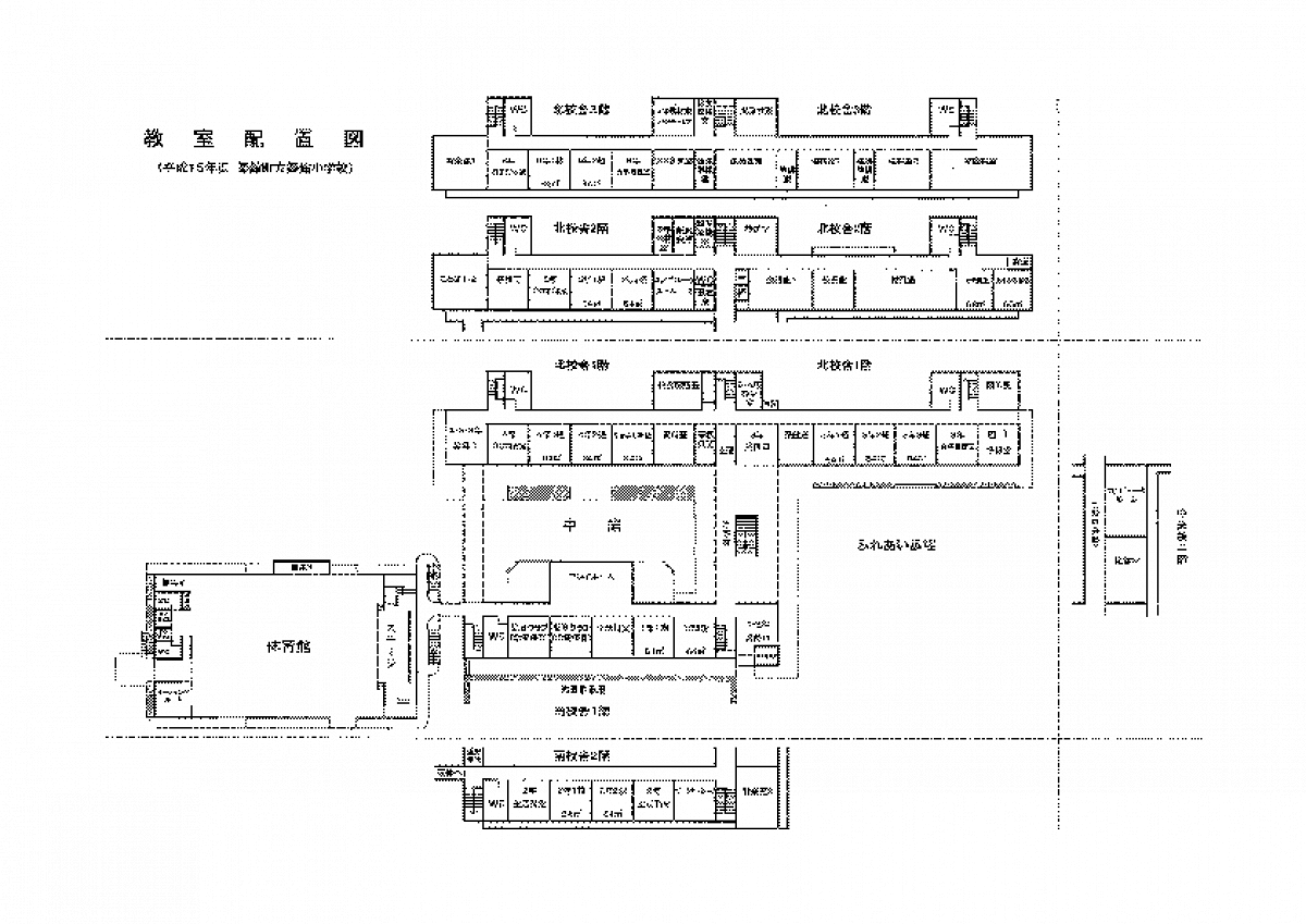 Plan of a Japanese school