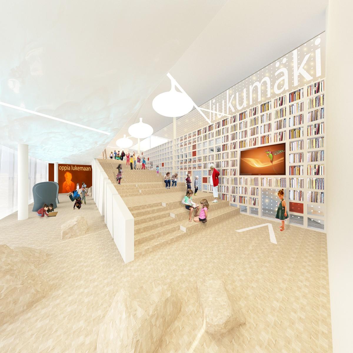 Prijsvraag nieuwe bibliotheek helsinki atelier pro for Interieur 806